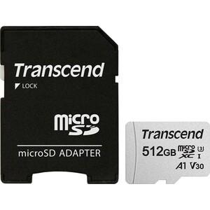 Фото - Карта памяти Transcend microSDXC 512Gb Class10 TS512GUSD300S-A 300S + adapter карта памяти 512gb transcend 300s secure digital xc class