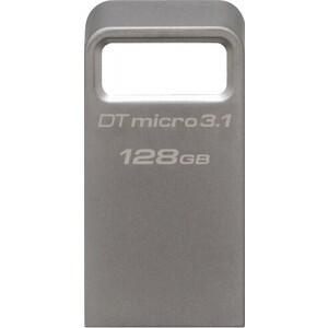 Фото - Флеш-диск Kingston 128Gb DataTraveler Micro 3.1 DTMC3/128GB USB3.1 серебристый флеш память kingston datatraveler i g4 128gb usb 3 0 б зел dtig4 128gb