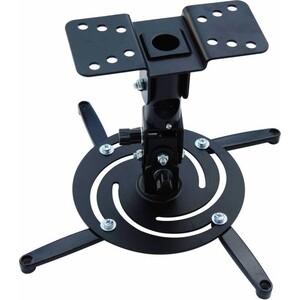 Фото - Кронштейн для проектора Cactus CS-VM-PR04-BK черный макс.21кг потолочный поворот и наклон кронштейн для проектора cactus cs vm pr01 bk черный макс 23кг настенный и потолочный поворот и наклон