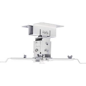 Фото - Кронштейн для проектора Cactus CS-VM-PREC01-WT белый макс.23кг потолочный поворот и наклон кронштейн для проектора cactus cs vm pr05b bk черный макс 10кг настенный и потолочный поворот и наклон