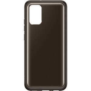 Чехол (клип-кейс) Samsung для Galaxy A02s Soft Clear Cover черный (EF-QA025TBEGRU)