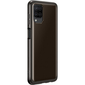 Чехол (клип-кейс) Samsung для Galaxy A12 Soft Clear Cover черный (EF-QA125TBEGRU)