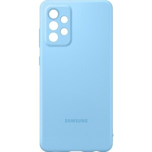 Чехол (клип-кейс) Samsung для Galaxy A72 Silicone Cover голубой (EF-PA725TLEGRU)