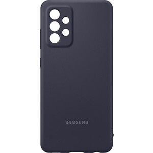 Чехол (клип-кейс) Samsung для Galaxy A72 Silicone Cover черный (EF-PA725TBEGRU)