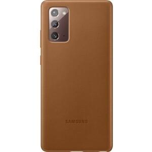 Чехол (клип-кейс) Samsung для Samsung Galaxy Note 20 Leather Cover коричневый (EF-VN980LAEGRU)