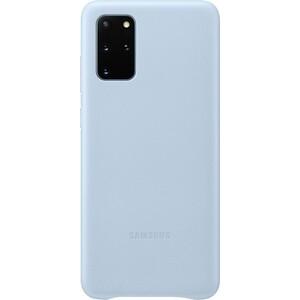 Чехол (клип-кейс) Samsung для Galaxy S20+ Leather Cover голубой (EF-VG985LLEGRU)