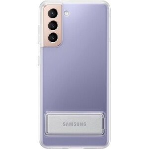 Чехол (клип-кейс) Samsung для Galaxy S21 Clear Standing Cover прозрачный (EF-JG991CTEGRU)