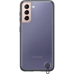 Чехол (клип-кейс) Samsung для Galaxy S21 Protective Standing Cover прозрачный/черный (EF-GG991CBEGRU)