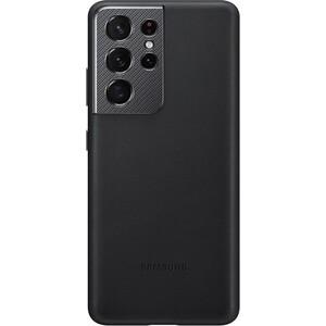 Чехол (клип-кейс) Samsung для Galaxy S21 Ultra Leather Cover черный (EF-VG998LBEGRU)