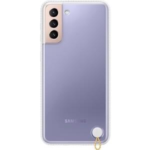 Чехол (клип-кейс) Samsung для Galaxy S21+ Protective Standing Cover прозрачный/белый (EF-GG996CWEGRU)