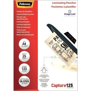 Пленка для ламинирования Fellowes 125мкм A4 (25шт) глянцевая 216х303мм CRC-53963 (FS-53963) 125мкм A4 (25шт) глянцевая 216х303мм CRC-53963 (FS-53963)