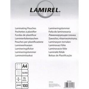 Пленка для ламинирования Fellowes 75мкм A4 (100шт) глянцевая 216х303мм Lamirel (LA-78656) 75мкм A4 (100шт) глянцевая 216х303мм Lamirel (LA-78656)