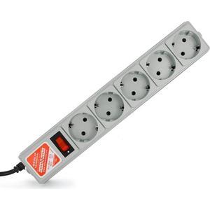 Фото - Сетевой фильтр Power Cube SPG-B-15 5м. 5 розеток, серый кеды мужские vans ua sk8 mid цвет белый va3wm3vp3 размер 9 5 43