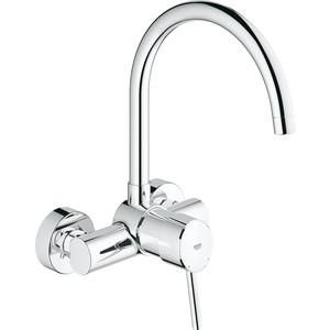 Смеситель для кухни Grohe Concetto настенный, излив сверху (32667001) grohe изливgrohe concetto 13280001 для ванны