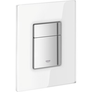Кнопка смыва Grohe Skate Cosmopolitan стеклянная поверхность матовый белый (38845LS0)