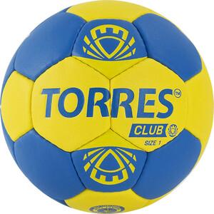 Мяч гандбольный Torres Club арт. H32141, р.1, ПУ, 5 подкл. слоев, сине-желтый