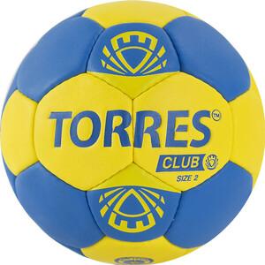 Мяч гандбольный Torres Club арт. H32142, р.2, ПУ, 5 подкл. слоев, сине-желтый