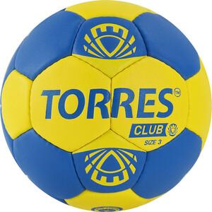 Мяч гандбольный Torres Club арт. H32143, р.3, ПУ, 5 подкл. слоев, сине-желтый
