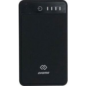 Мобильный аккумулятор Digma DG-10000-3U-BK Li-Pol аккумулятор digma dg 10000 sml bl серый