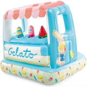 Игровой домик Intex 127х102х99см Мороженое с бассейном 60л, 2-6 лет