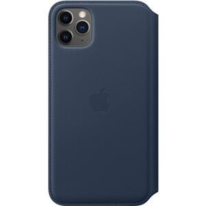 Чехол Apple iPhone 11 Pro Max Leather Folio Deep Sea Blue (MY1P2ZM/A)