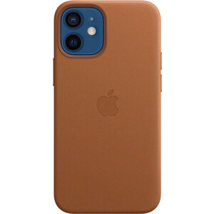 Чехол Apple iPhone 12 mini Leather Case with MagSafe, Saddle Brown (MHK93ZE/A)