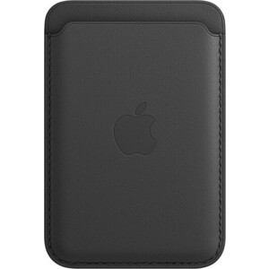 Чехол-бумажник Apple iPhone Leather Wallet with MagSafe, Black (MHLR3ZE/A)