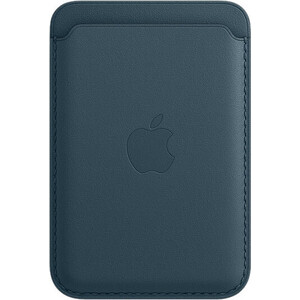 Чехол-бумажник Apple iPhone Leather Wallet with MagSafe, Baltic Blue (MHLQ3ZE/A)