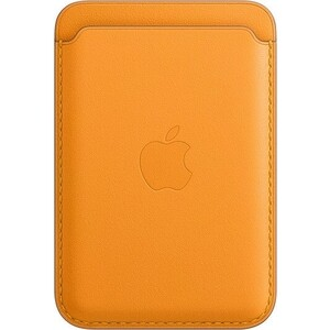 Чехол-бумажник Apple iPhone Leather Wallet with MagSafe, California Poppy (MHLP3ZE/A)