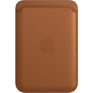 Чехол-бумажник Apple iPhone Leather Wallet with MagSafe, Saddle Brown (MHLT3ZE/A)