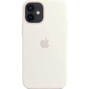 Чехол Apple iPhone 12 mini Silicone Case with MagSafe, White (MHKV3ZE/A)