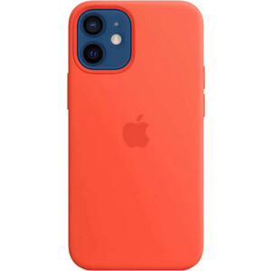 Чехол Apple iPhone 12 mini Silicone Case with MagSafe, Electric Orange (MKTN3ZE/A)