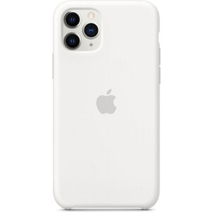 Чехол Apple iPhone 11 Pro Silicone Case, White (MWYL2ZM/A)