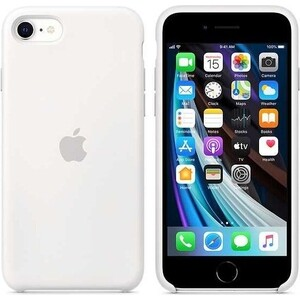 Чехол Apple iPhone SE Silicone Case, White (MXYJ2ZM/A)