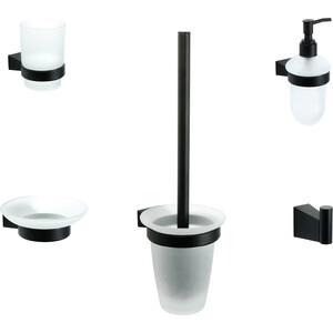 Набор аксессуаров Fixsen Trend 5 предметов, черный