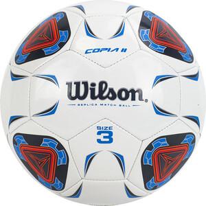 Мяч футбольный Wilson Copia II WTE9210XB03 р.3, 30 панелей, TPU, маш.сш., бело-сине-красный
