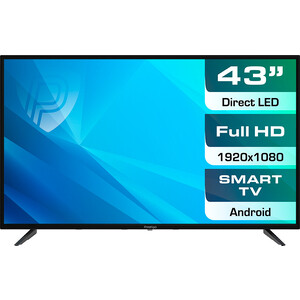 LED Телевизор Prestigio PTV43SS04YCISBK черный