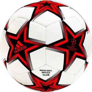 Мяч футбольный Adidas UCL Club Ps арт. GT7789, р.4, ТПУ, 12 пан., маш.сш., бело-красно-черный