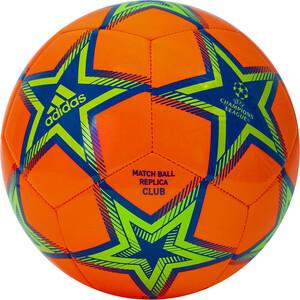 Мяч футбольный Adidas UCL Club Ps арт. GU0203, р.5, ТПУ, 12 пан., маш.сш., оранж-сине-зеленый