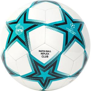 Мяч футбольный Adidas UCL RM Club Ps арт. GU0204, р.5, 12 пан, ТПУ, маш.сш., бирюзово-бело-черный