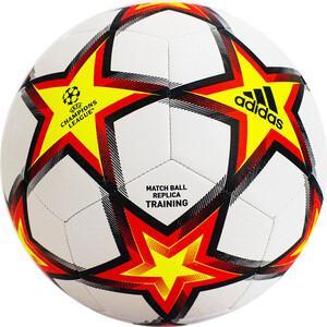 Мяч футбольный Adidas UCL Training PS арт. GU0206, р.5, 12 пан, ТПУ, маш.сш, бело-красно-желтый