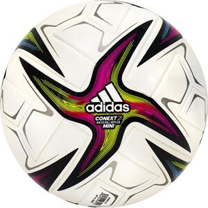 Мяч футбольный сувенирный Adidas Conext 21 Mini, арт. GK3487, р.1, ТПУ, 6 пан, термосш, бело-желто-красно-сине-зеленый