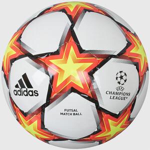Мяч футзальный Adidas UCL Pro Sala Ps, арт. GU0213, р.4, 32 пан, ПУ, руч.сш, бело-красно-желтый