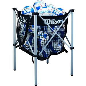 Корзина для волейбольных мячей Wilson WTH180400, лого Wilson, черный