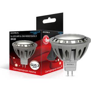Энергосберегающая лампа Supra SL-LED-MR16-3W/4000/GU5.3 mr16 3w 3 led red light bulb 12v