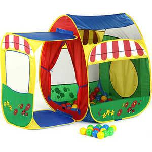 Игровой домик Calida Домик с пристройкой и 100 шаров 679
