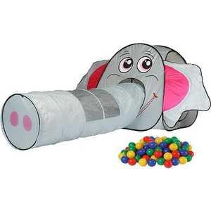 Игровой домик Calida Слоник с туннелем и 100 шаров 652