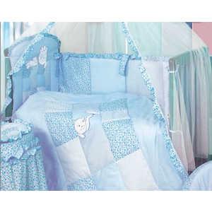 Комплект в кроватку Золотой гусь Кошки-мышки 7 предметов (голубой) 1702
