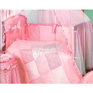 Комплект в кроватку Золотой гусь Кошки-мышки 7 предметов (розовый) 1706