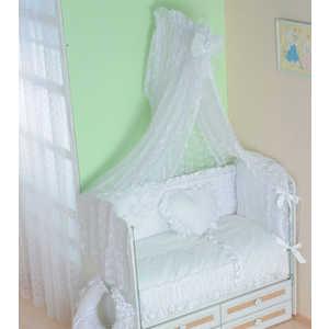 Комплект в кроватку Сдобина Нежность 7 предметов (белый) 69